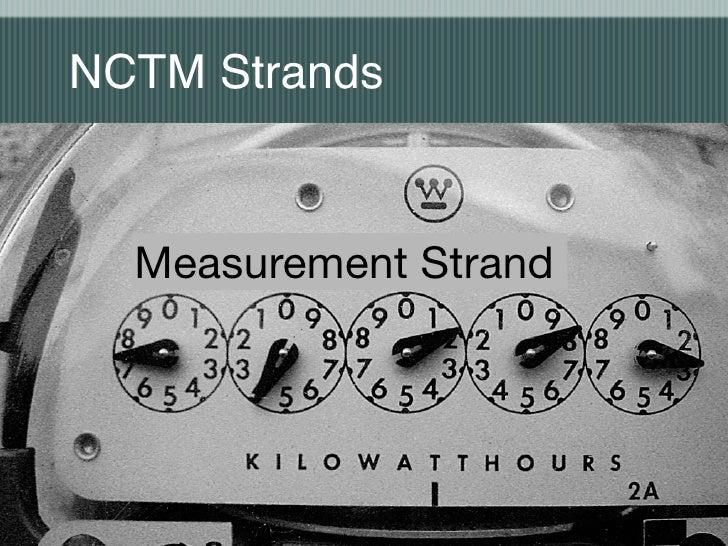 NCTM Strands     Measurement Strand