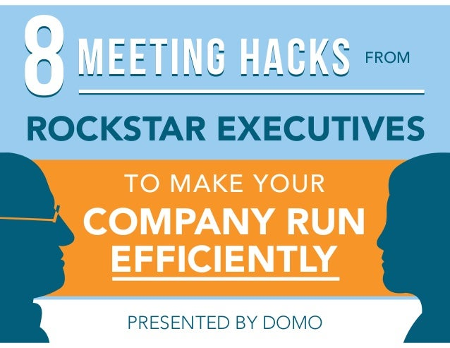 FROM TO MAKE YOUR COMPANY RUN ROCKSTAR EXECUTIVES EFFICIENTLY PRESENTED BY DOMO 88MEETING HACKSMEETING HACKS