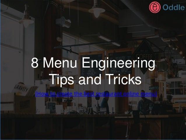 8 menu engineering tips and tricks