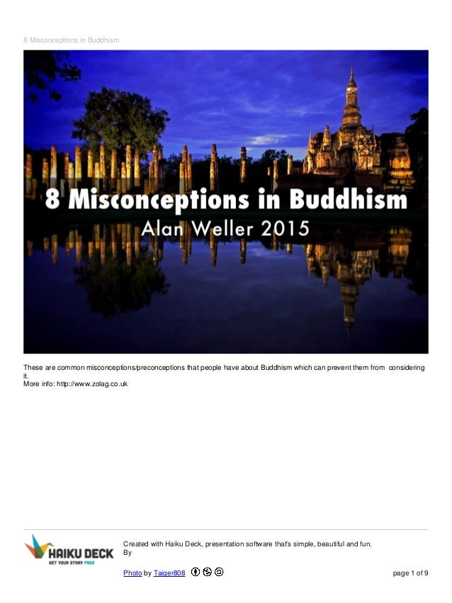 8 Misconceptions in Buddhism These are common misconceptions/preconceptions that people have about Buddhism which can prev...