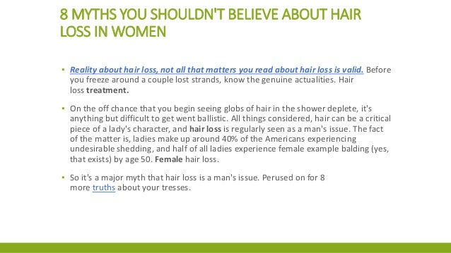 8 myths you shouldn't believe about hair loss