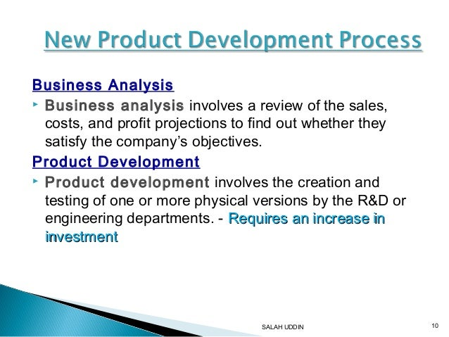 8 new product development for Company product development