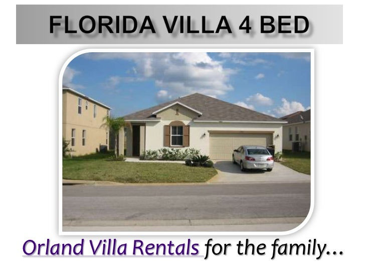 Florida Villa 4 Bed<br />Orland Villa Rentals for the family…<br />