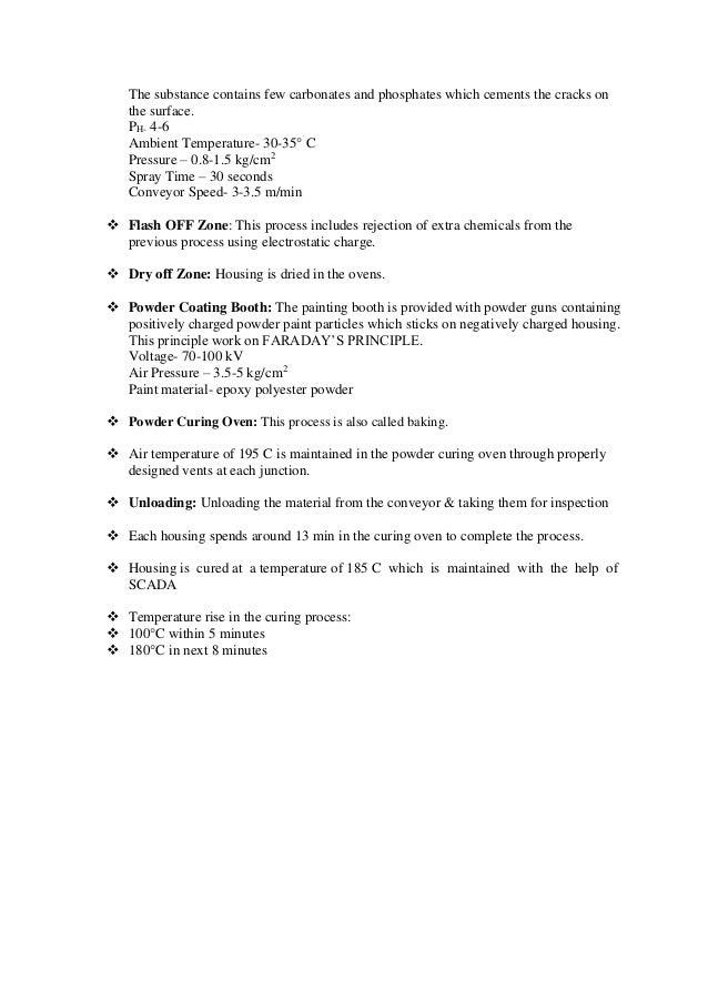report of summer training inhavells lighting fixture divis 29