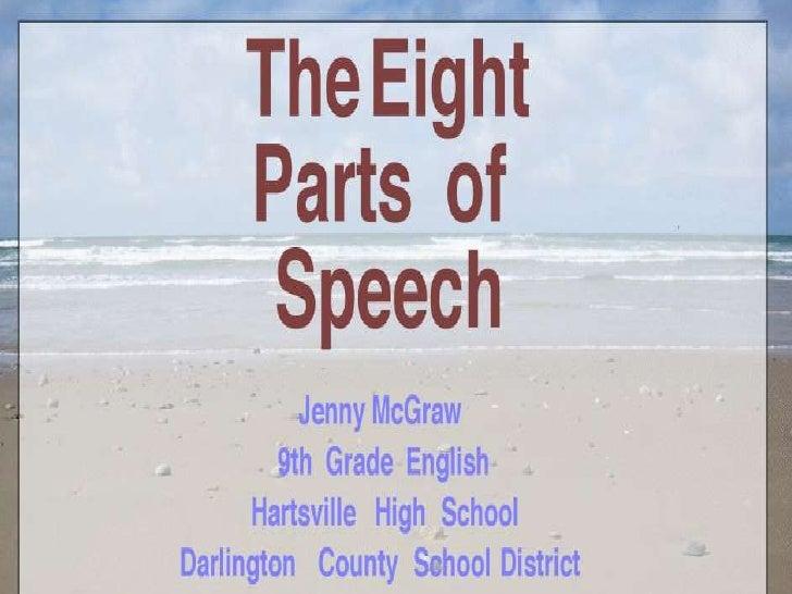 8 parts of speech essay