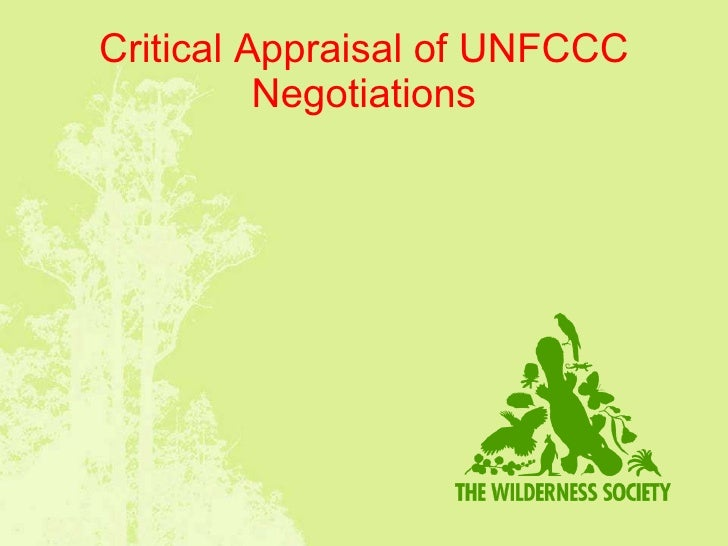 Critical Appraisal of UNFCCC Negotiations