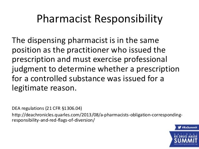 8 pharmacy track pharmacists working with local coalitions and pdm ps – Responsibility of a Pharmacist