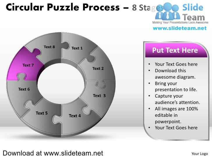 8 pieces pie chart circular puzzle with hole in center process powerp 15 cheaphphosting Gallery