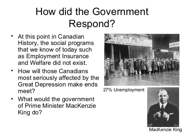 what did the australian government do during the great depression Richard (rb) bennett was a tough-talking millionaire whom canadians turned to as a beacon of hope during the first years of the great depression he soon became the focus of a nation's anger as hard times intensified canadian prime minister rb bennett and his government had little vision for.