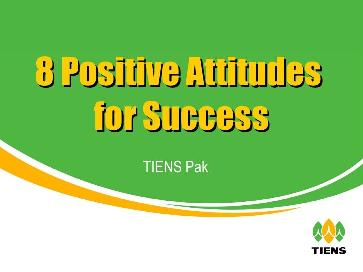 TIENS Pak 8 Positive Attitudes  for Success