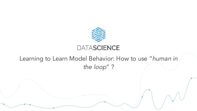 """Learning to Learn Model Behavior: How to use """"human in the loop"""" ?"""