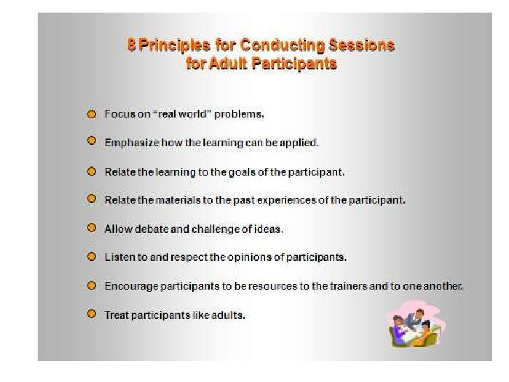 8 Principles Of Adult Learning