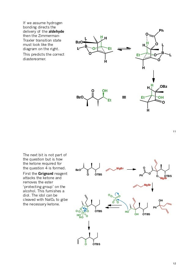problem in diastereoselectivity More problems covering asymmetric synthesis problems 2 answers 1 rationalise the observed diastereoselectivity.