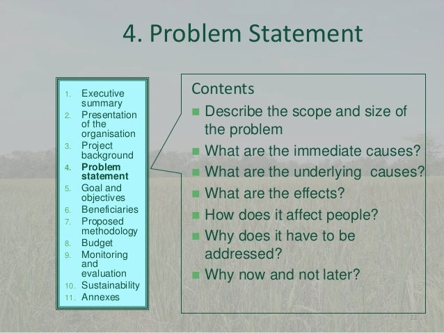 ... 22. 4. Problem Statement Executive Summary ...  Executive Summary Proposal Example