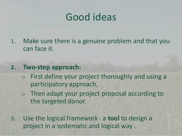 ... Project Needs Identified By Experts Available Resources; 6.