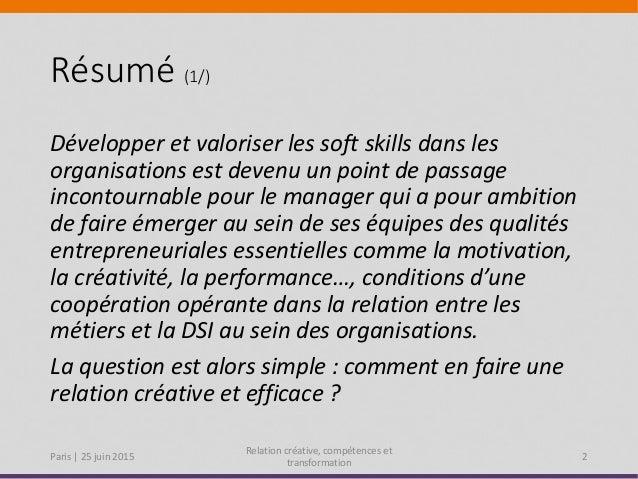 BAFS 2015 Paris : Guy Keckhut - Développez une relation créative et vos compétences pour accompagner la transformation Slide 2