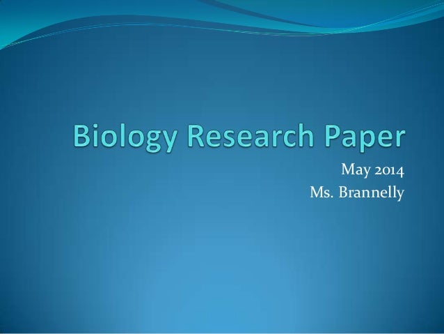 Research papers on biology