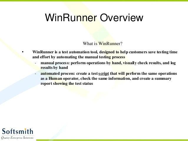 winrunner rh slideshare net Test Director Mercury WinRunner Interactive