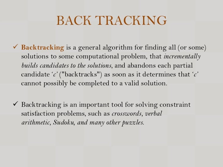 Chapter 5 Backtracking - PowerPoint PPT Presentation