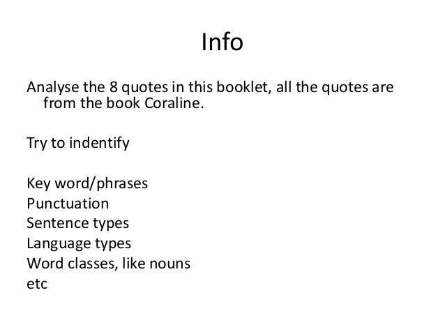 8 Quotes Coraline Booklet