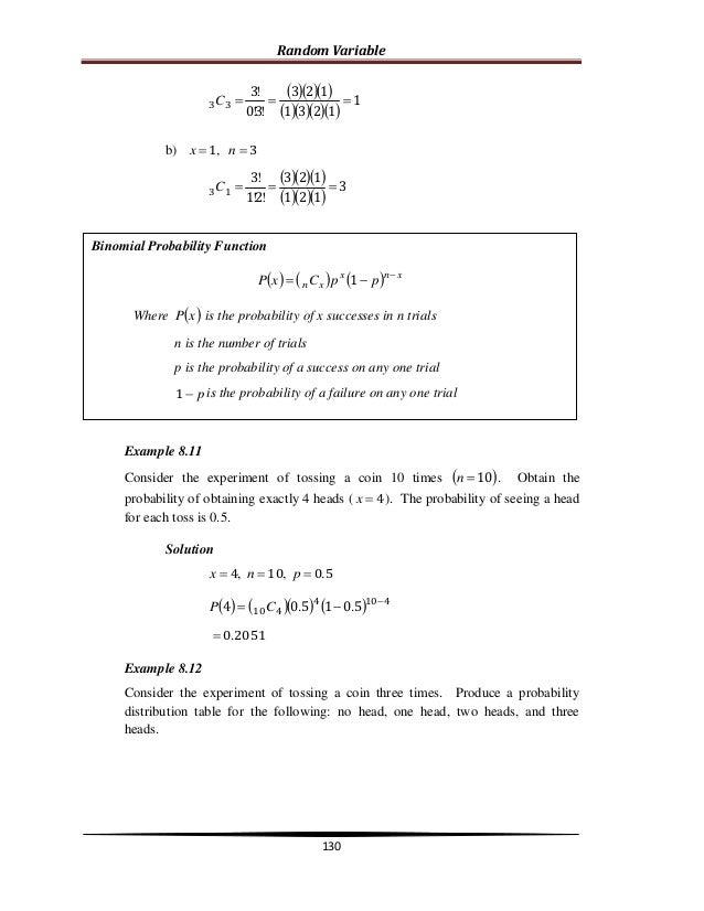 8 random variable