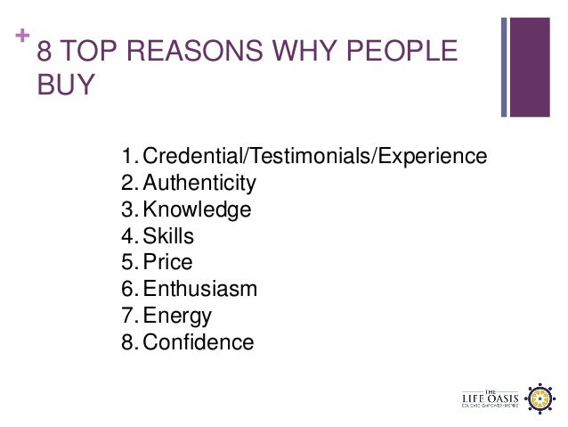 8 Reasons Why People Buy