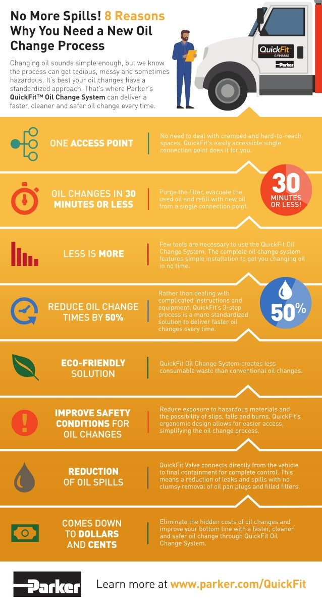 8 Reasons Why You Need a New Oil Change Process With QuickFit | #Infographic