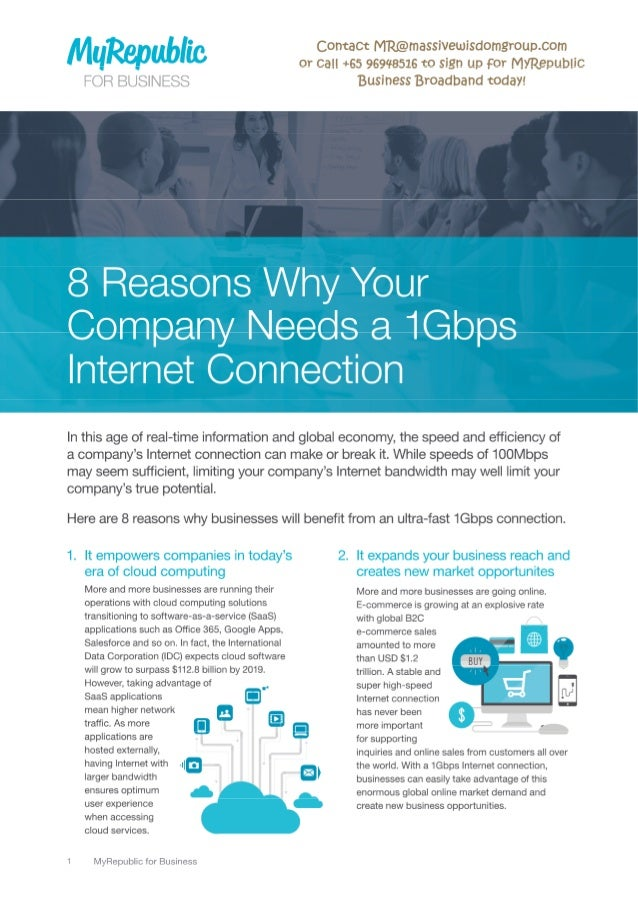 8 reasons why your company needs a 1Gbps internet connection MyRepublic