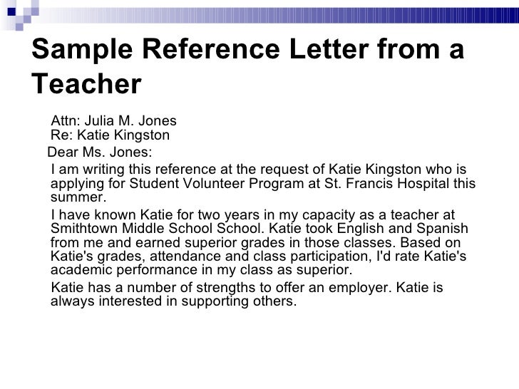 How To Write A Reference Letter For A Student Volunteer