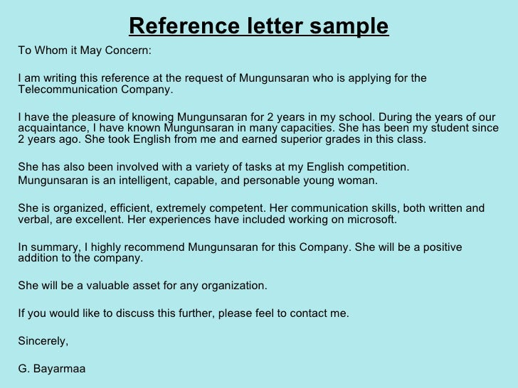 writing a cover letter to whom it may concern - 8 reference letters mungunsaran