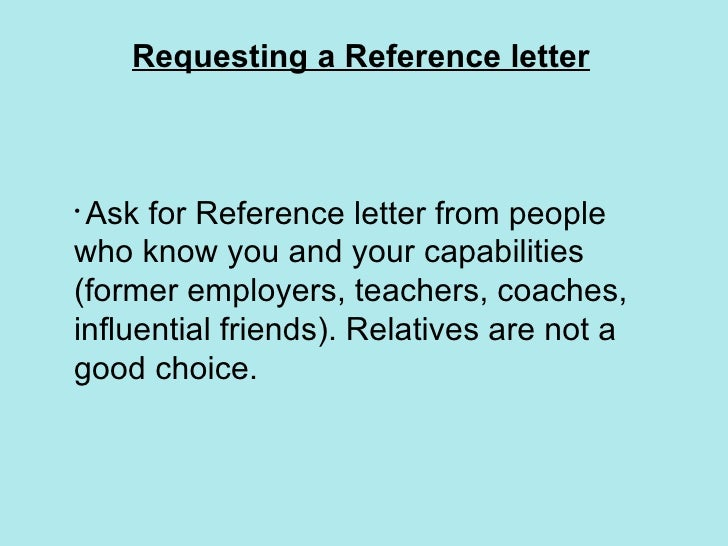 who can you use as a reference