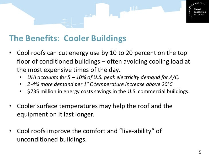 Cool Roofs: Cost Effective Technology for Better Buildings