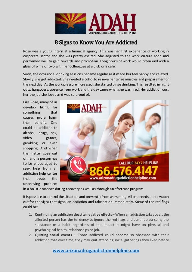 8 Signs to Know You Are Addicted