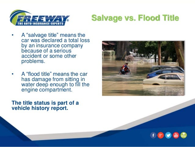 8 Signs You May Be Looking At A Flood Damaged Car