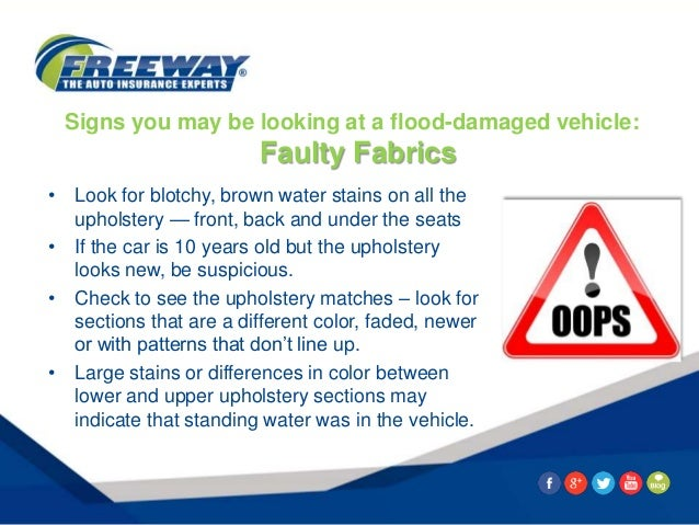 8 Signs You May Be Looking At A Flood Damaged Car
