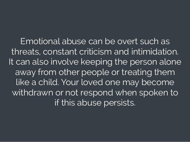 Emotional Abuse; 12.