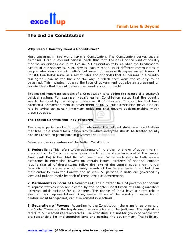 Finish Line & BeyondThe Indian ConstitutionWhy Does a Country Need a Constitution?Most countries in the world have a Const...