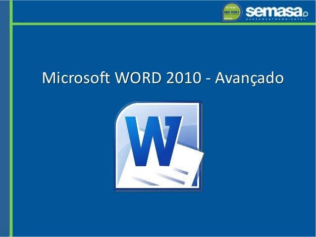 Microsoft WORD 2010 - Avançado