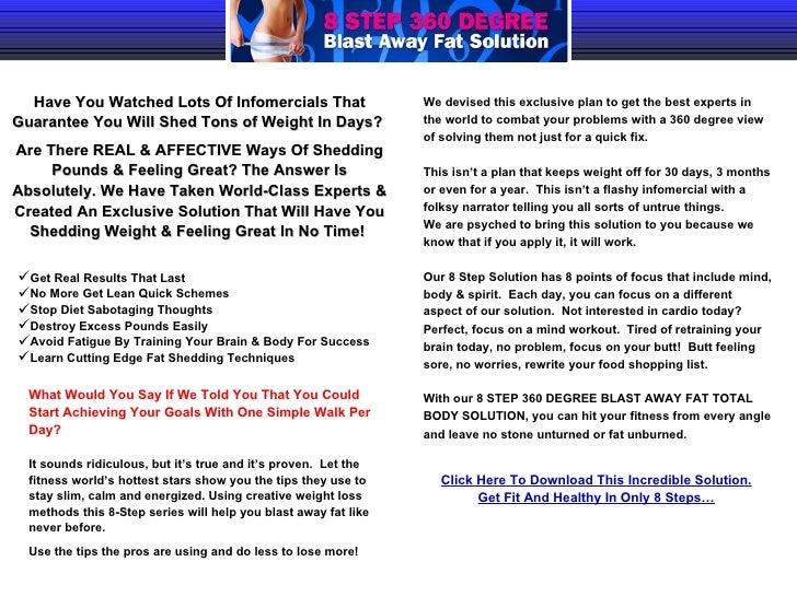 8 Steps 360 Degree Weight Loss Program