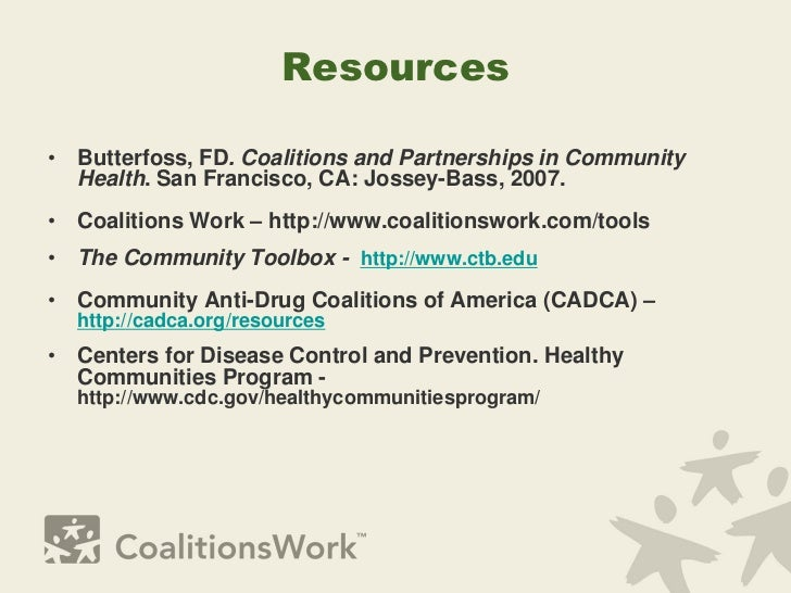 coalitions and partnerships in community health pdf