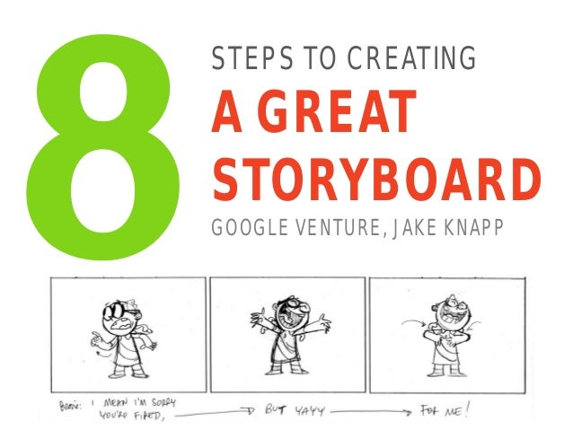 STEPS TO CREATING A GREAT STORYBOARD GOOGLE VENTURE, JAKE KNAPP