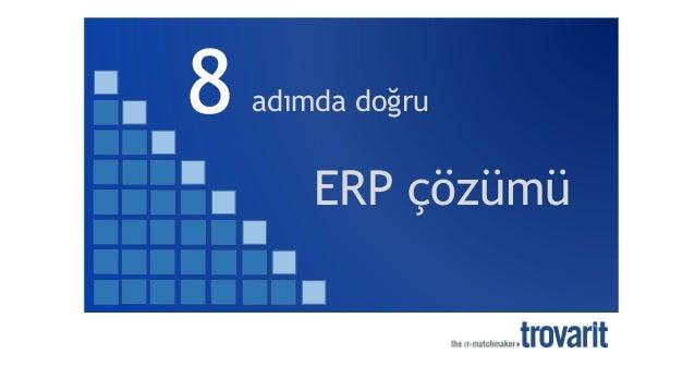 8 adımda doğru ERP çözümü