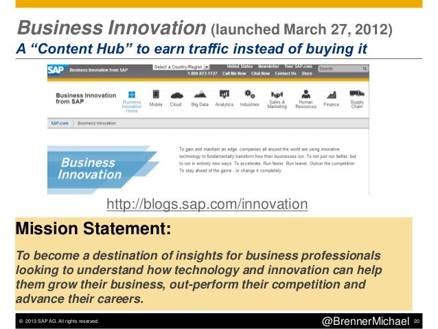 © 2013 SAP AG. All rights reserved. 23@BrennerMichaelStep 3 – Keyword Strategy