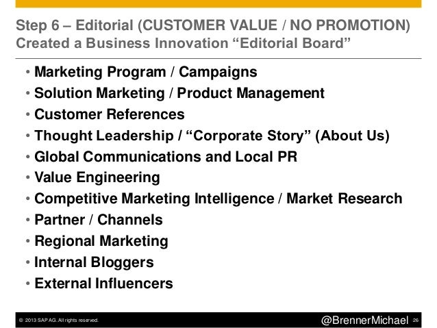 © 2013 SAP AG. All rights reserved. 29@BrennerMichaelMost Popular Articles (10X average Pageviews)•Top 50 Influencers for ...