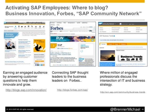 """© 2013 SAP AG. All rights reserved. 35@BrennerMichaelNYTimes """"Ricochet"""": Wraps Ads Around Curated Content"""