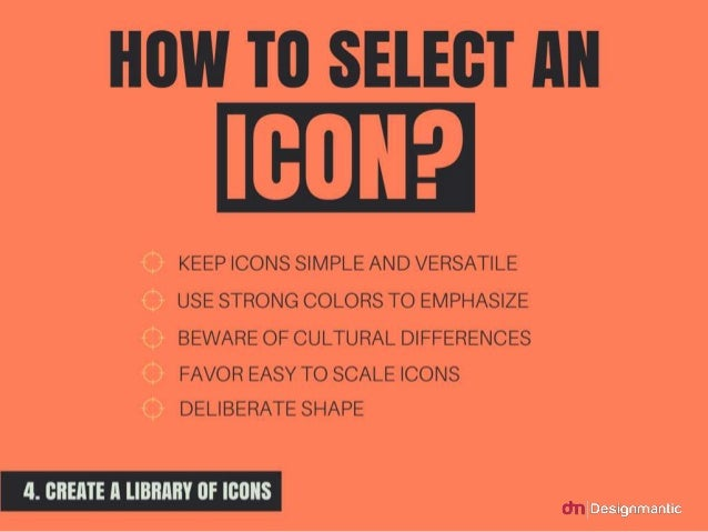 How to select an icon?