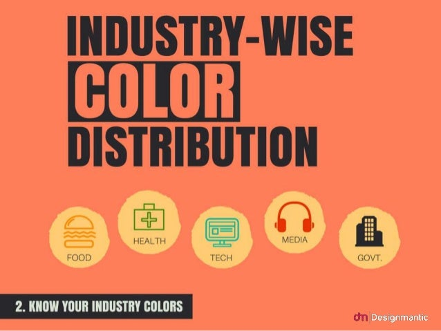 Industry-wise color distribution