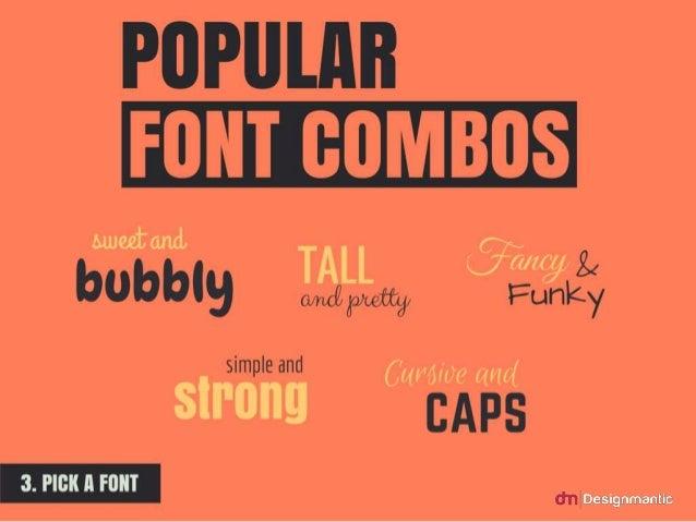 Popular Font Combos