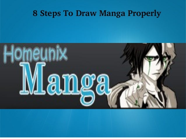 8 Steps To Draw Manga Properly