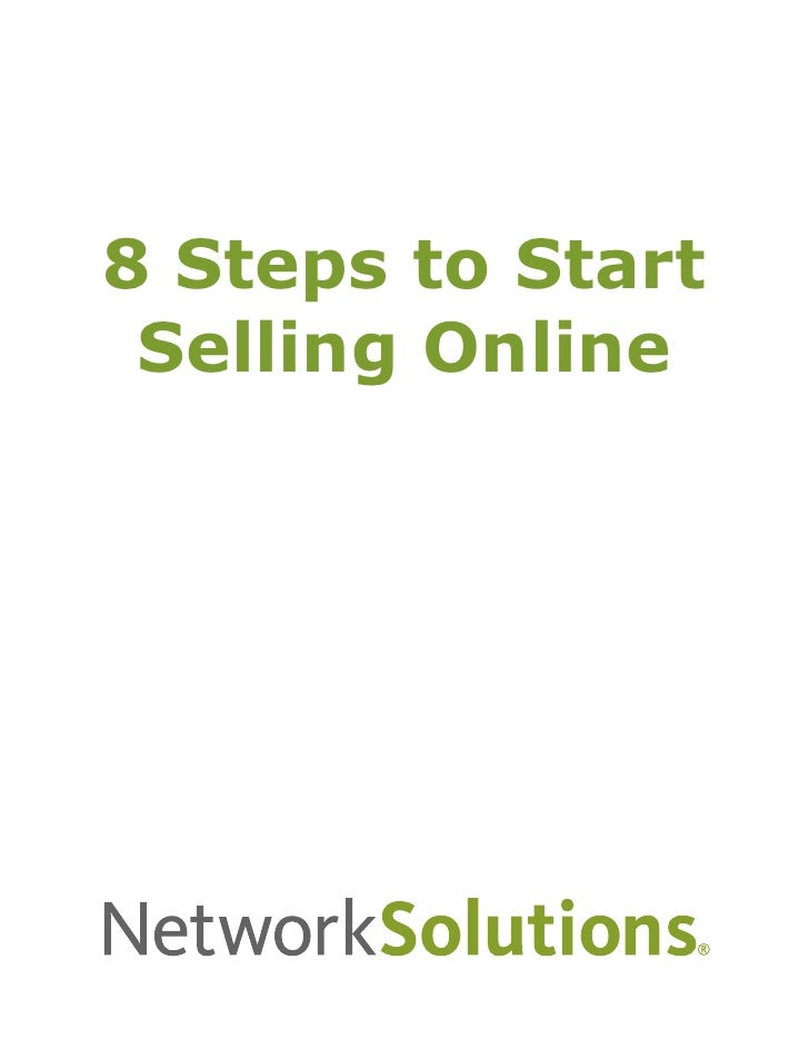 8 Steps to Start  Selling Online